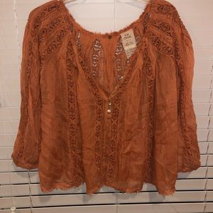 Free People One Long Sleeve Blouse